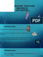 Laboratory tests and imaging in Psychiatry