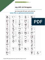 Học bản chữ cái Hiragana