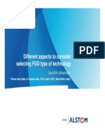 Different Aspects to Consider Selecting FGD Type of Technology