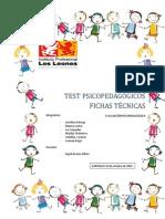 Fichas técnicas DE INSTRUMENTOS PSICOPEDAGÓGICOS