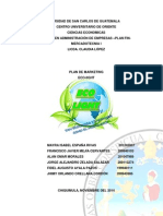 Plan de Mk Produccion de Lamparas PDF