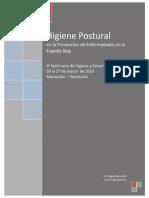 Higiene Postural Como Prevención de Enfermedades en La Espal