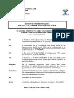 Directive 06 2009 CM UEMOA