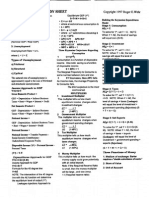 Macroeconomics Study Sheet