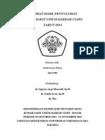 Laporan Hasil Penyuluhan Penanganan Mata Belekan - Thedi Darma Wijaya 406127089