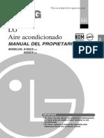 Manual Aire Acondicionado LG A182CX A242CX