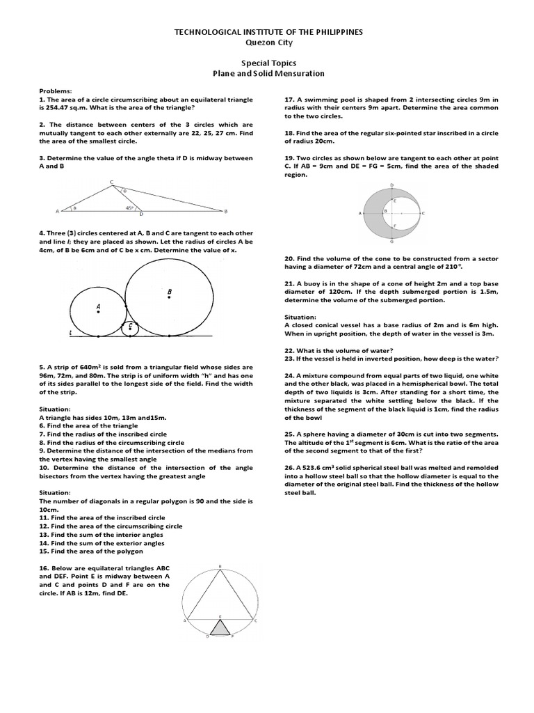 Plane And Solid Geometry Circle Triangle