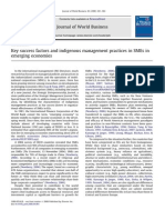 Key Success Factors and Indigenous Management ...