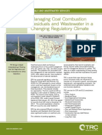 Managing Coal Ash Residuals and Wastewater in a Changing Regulatory Climate