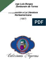 1967 - Introducción a La Literatura Norteamericana (Colaboración Con Estela Zemborain de Torres)
