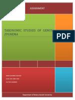 Taxonomic Studies of Genus Zygnema