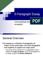 5-Paragraph Essay Format