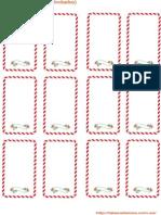Tarjetas de Mesa para invitados en Navidad