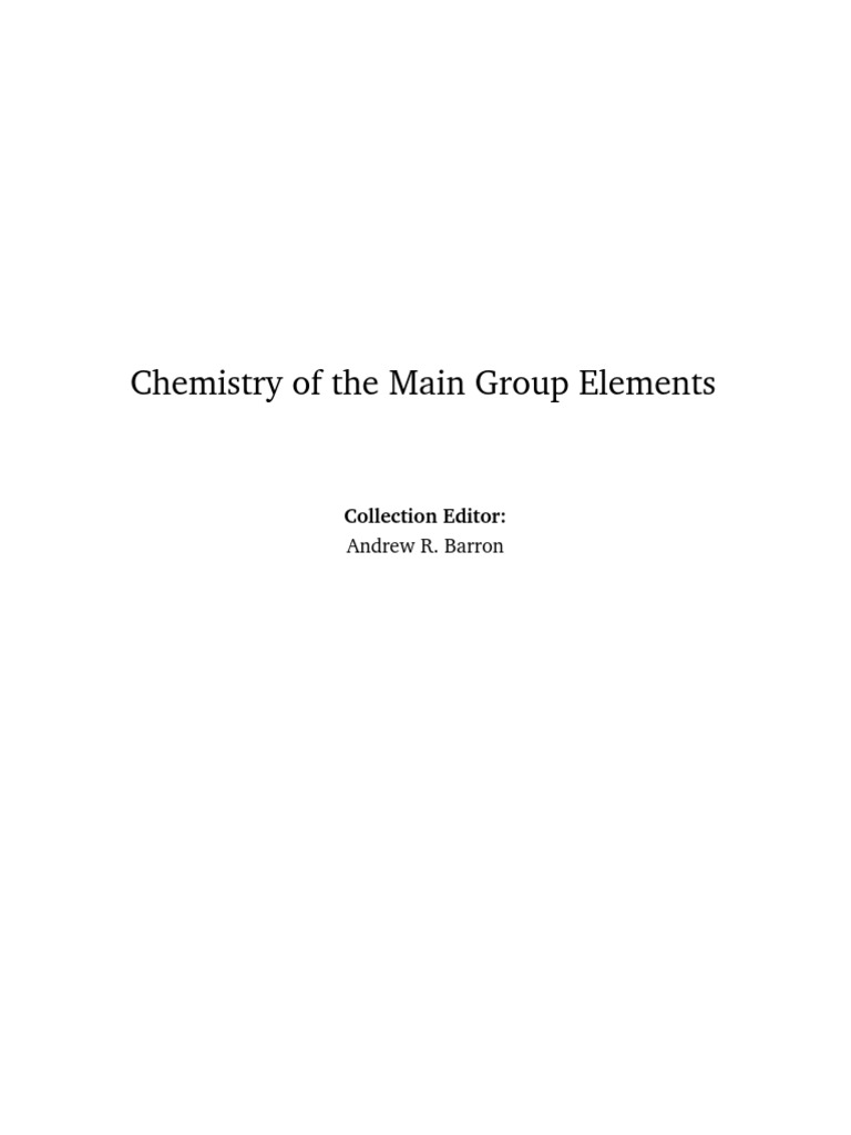 Chemistry of the main group elements crystal structure redox urtaz Gallery