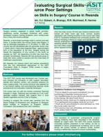 Promoting and Evaluating Surgical Skills Training in Resource Poor Settings