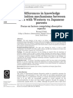 Differences in Knowledge Acquisition Mechanisms Bw Partners_Factors Comprising Absorptive Capacity_2011