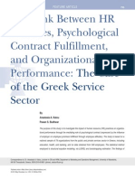 Link Between HR Practices, Psychological Contract Fulfillment, And Organizational Performance_MEDIATING.variABLE_2012