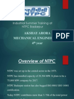 NTPC Badarpur Mechanical PPT