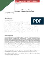Nascent Entrepreneurs and Venture Emergence_2010