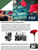 Trabalho Sobre 25 de Abril (História) Rafael Santos 6º I