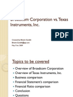 Broadcom vs Texas instruments ppt