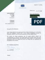 Antwort auf Zweitantrag zum ACTA Document
