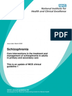 NICE Guidelines for Schizophrenia