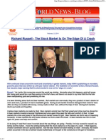 Richard Russell - The Stock Market is on the Edge of a Crash
