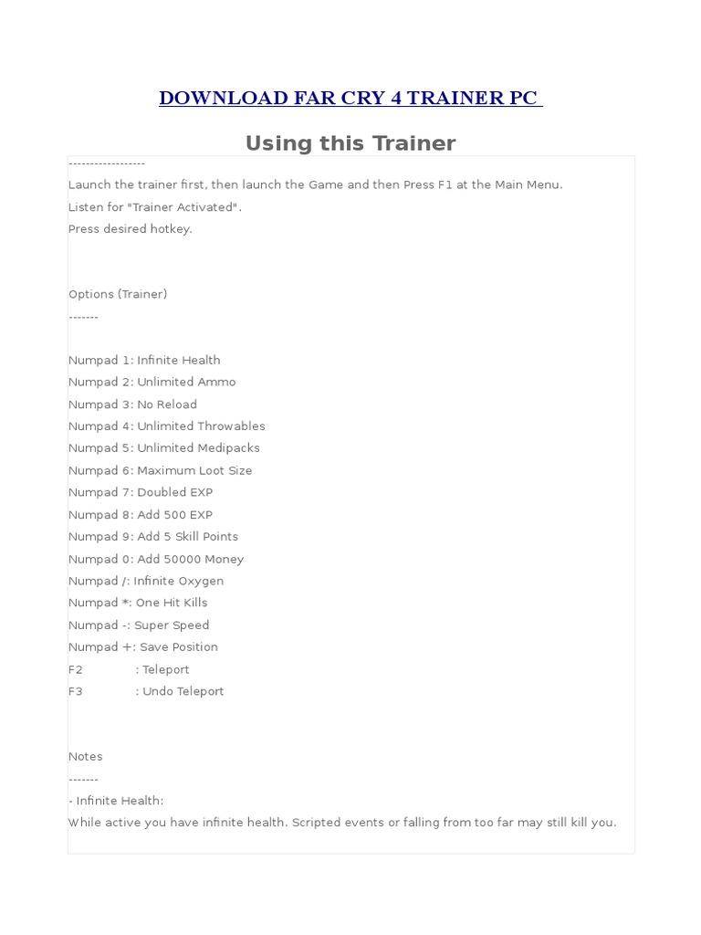 Far cry 4: трейнер/trainer (+18) [1. 0] {aleksander d} читы чит.