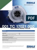 001-Tc-17021-000 (Turbocharger Datasheet 001 TC 17021 000 (English))