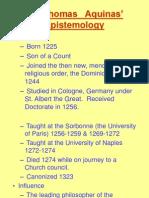 Aquinas Epistemology