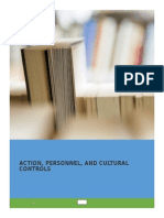 resume action, personal dan culturan control dari buku Management Control  Systems Performance Measurement, Evaluation and  Incentives   karangan Kenneth A. Merchant & Wim  A. Van der  Stede
