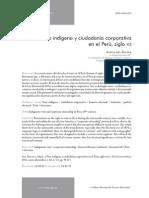 241939869 Alicia Del Aguila Voto Indigena y Ciudadania Corporativa en El Peru Siglo Xix