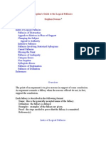 Stephen's Guide to the Logical Fallacies Stephen Downes* Overview Index