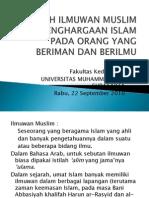 Sejarah Ilmuwan Muslim Dan Penghargaan Islam Pada Orang