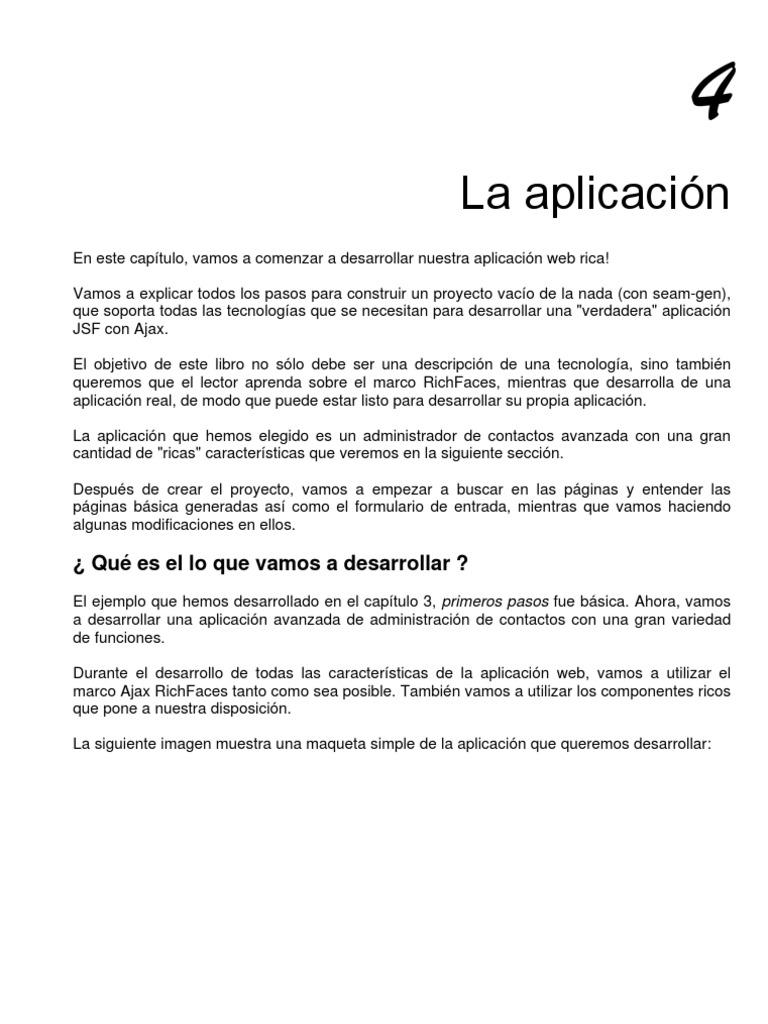 JBoss RichFaces. Capítulo 4. La aplicación.