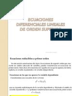 Edo.tema4. Ecuaciones Diferenciales de Orden Superior. i Parte