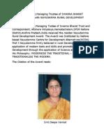 Nayudamma Rural Development Award