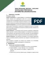 Plan de Goberno Tantara - Jose Saldaña