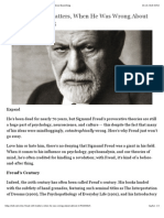Why Freud Still Matters, When He Was Wrong About Almost Everything