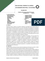 Silabos de Formulación y Evaluación de Proyectos Informáticos 2014