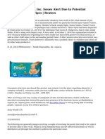 Nutek Disposables, Inc. Issues Alert Due to Potential Bacteria in Baby Wipes   Reuters