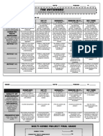 theoutsiders multigenreproject rubric