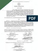 """LEY 5350/14 """"Derogación del Desbloqueo (Ley 4584/12)"""""""