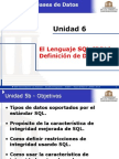 Unidad 5b - El Lenguaje SQL (DDL)