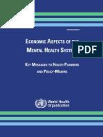 Economic Aspects of Mental Health