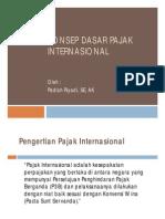 Konsep Dasar Pajak Internasional