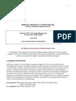 Syllabus B4050 - Fall 2014 - Section 001 CRN 58908 v3 (1)