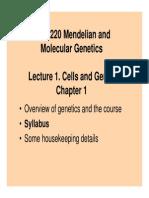 BIOS 220 - L1 Cells and Genes