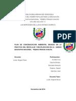 """Plan de Concienciacion Ambiental Basado en La Practica Del Reciclaje y Reutilización en La u Unidad Educativa Nacional """"Pedro Itriago Chacín."""
